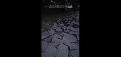 Разбит асфалт