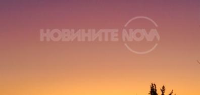 Цветна красота в утринното небе