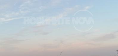 Небето над Дунав преди здрачаване