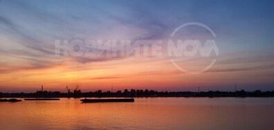Залез над река Дунав в гр. Русе