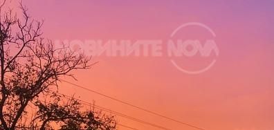 Червено небе над село Красен, облост Русе