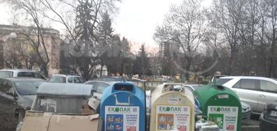 Препълнени контейнери за отпадъци