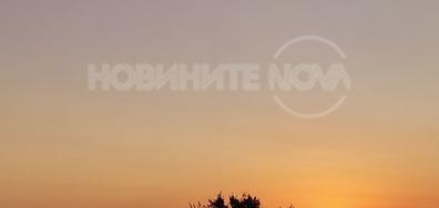 Изгрев край Свищов на Дунав