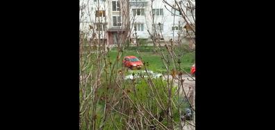 Паркиране в средата на градинка
