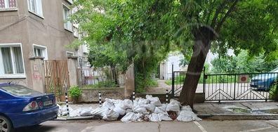 Строителни отпадъци в сърцето на София