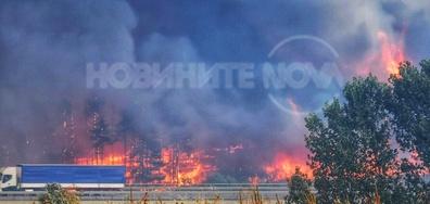 Пожара край Харманли