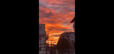 Залез над кв.Сарафово,гр.Бургас,България