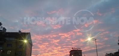 Красив залез в София