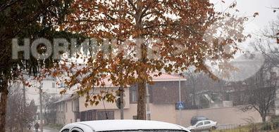 Денят в Разград започна снежно!
