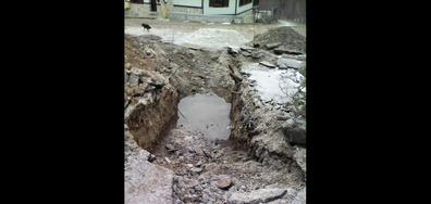 Разкопана улица от ВиК-София в село Рашково