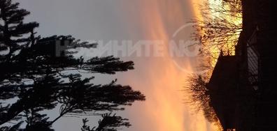 Нашият зимен изгрев в град Попово