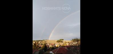 Двойна дъга в град Червен бряг