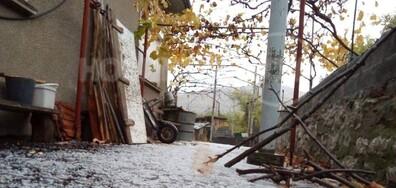 Градушка се изсипа над Белоградчик