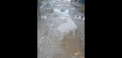 Улица в Добрич в окаяно състояние