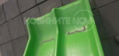 Едри прахови частици върху детска площадка