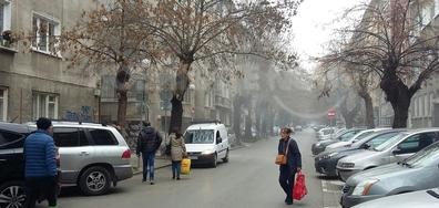 Замърсяване на въздуха в центъра на София при ремонт
