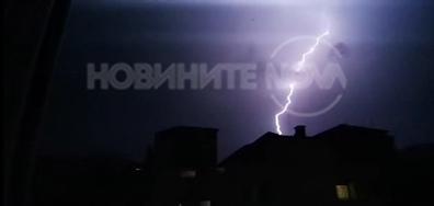 Гръмотевична буря в Стара Загора през нощта срещу 24 юни