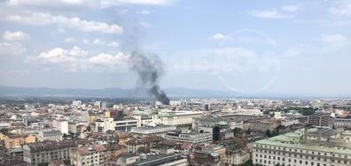 Пожар горя до Сточна гара в София