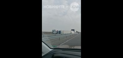 Катастрофирал ТИР на магистрала Тракия