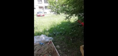 Необходимост от окосяване на трева на детска площадка