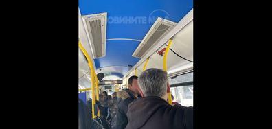 """Противоепидемични """"мерки"""" в обществения транспорт във Варна"""