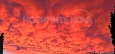 Небето над Шумен след бурята!