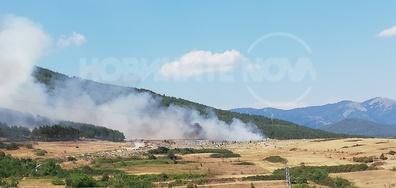 Пожар на сметище във Велинград