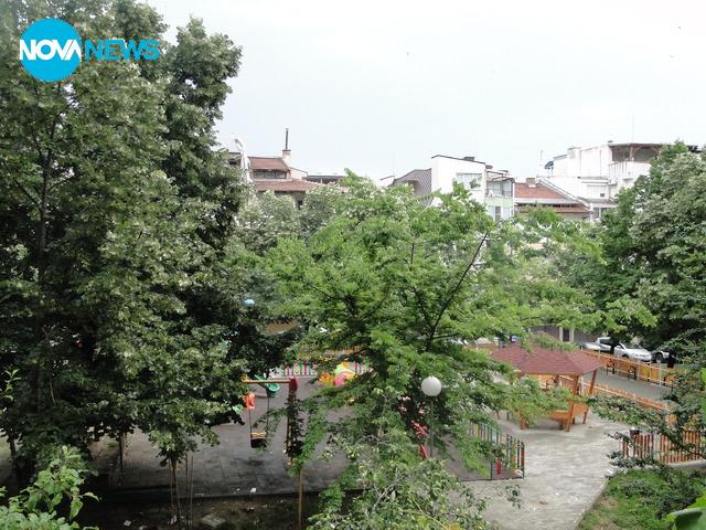 Пороен дъжд в Стара Загора