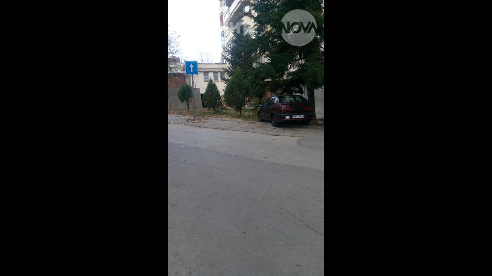 Нагло паркиране в Троян