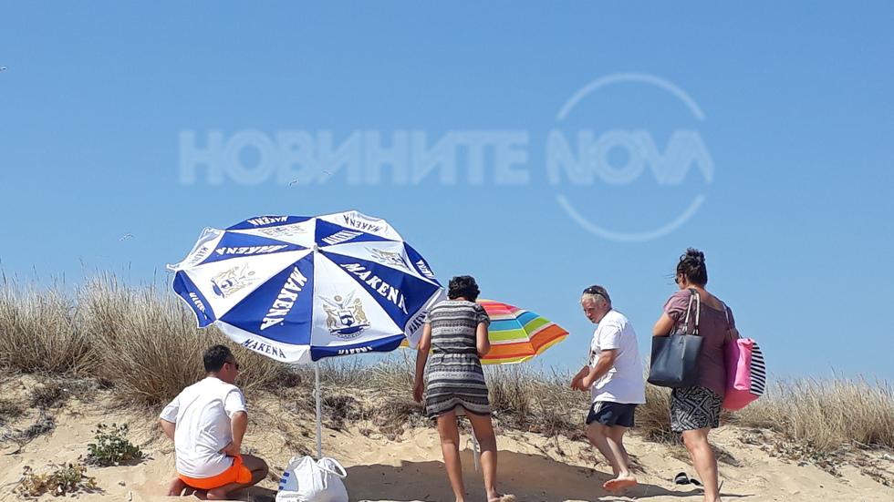 """Окупация на защитена дюна от селски нашественици на """"Градина"""""""