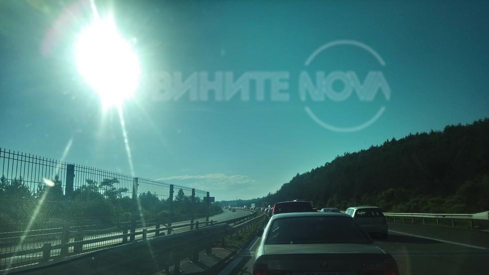"""Трафикът от София по """"Тракия"""""""