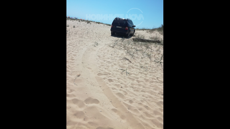 Джип на плажа в Камчия