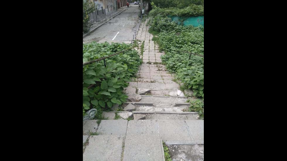 Стълби и тротоари