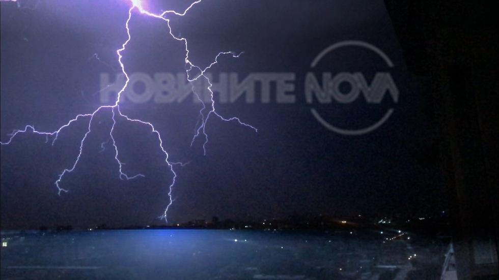Гръмотевичната буря в Пловдив