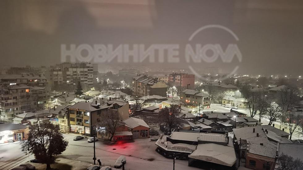 Първи сняг в Силистра