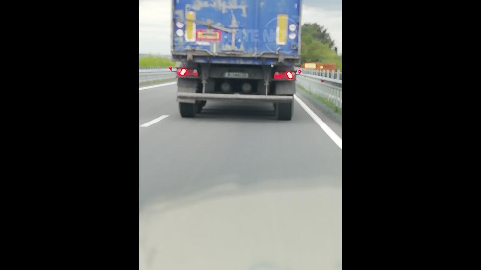 Скоростно шофиране от камион по пътя Несебър-Поморие