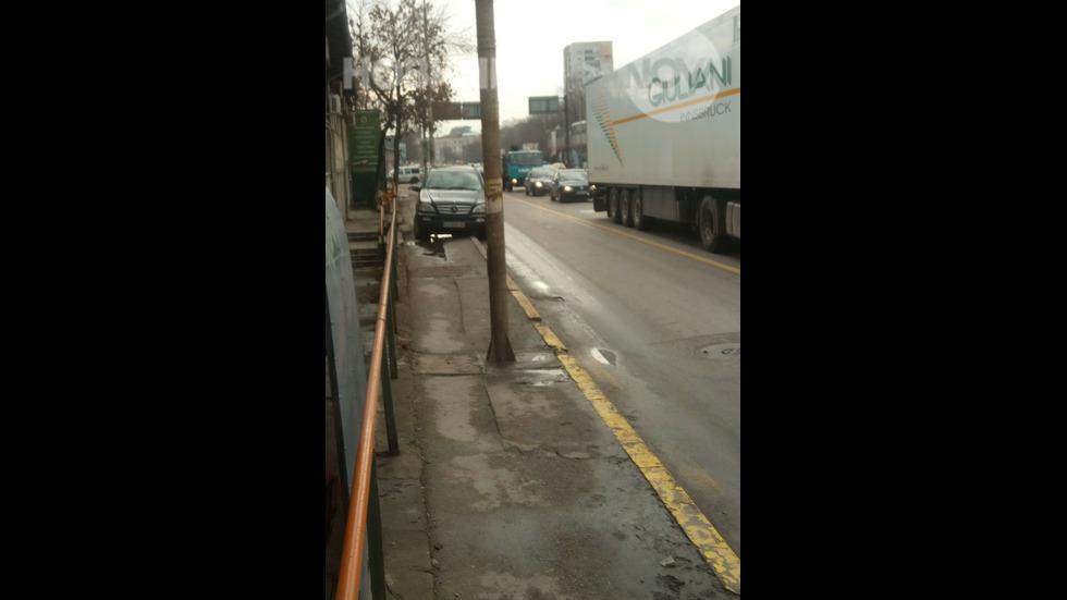 Неправилно паркиране в София