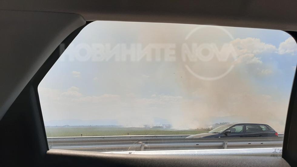 Пожар до село Манолско Конаре
