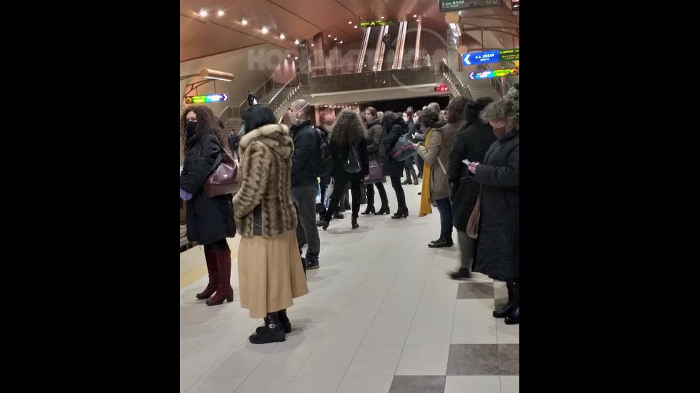 Час Пик в Метростанция Сердика, линия 2 посока Обеля