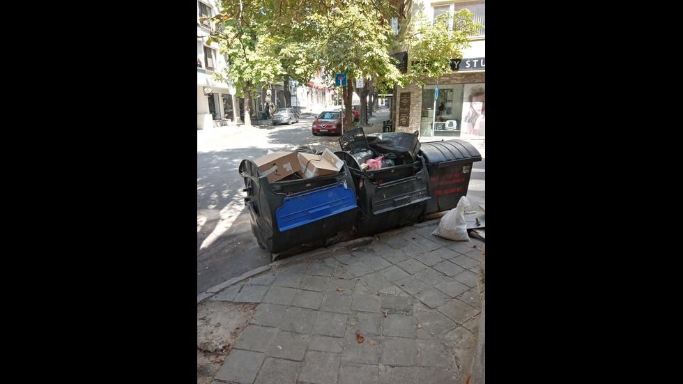 Счупени кофи за боклук Варна.