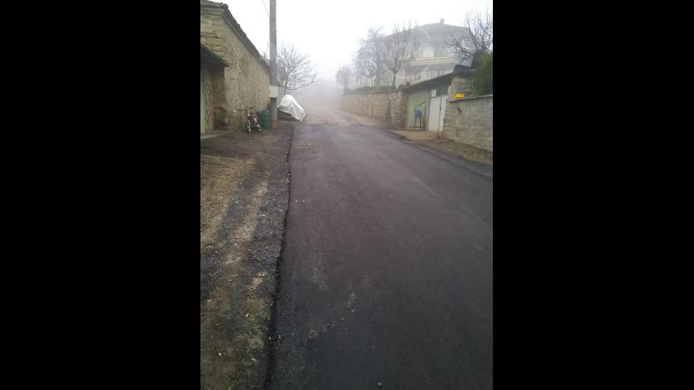 """Перфектно асфалтирана улица от """"Пътни строежи"""" в село Присово"""