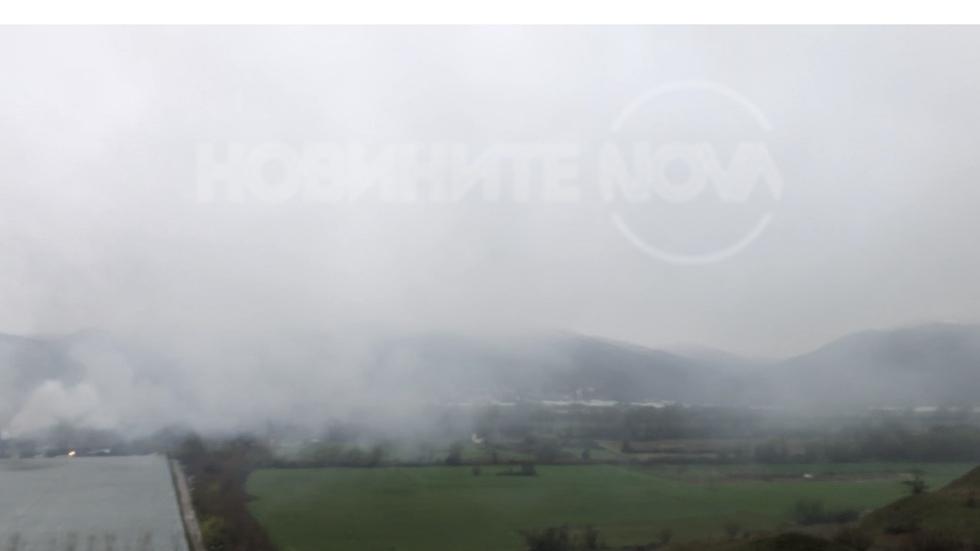 Въздухът край град Сандански