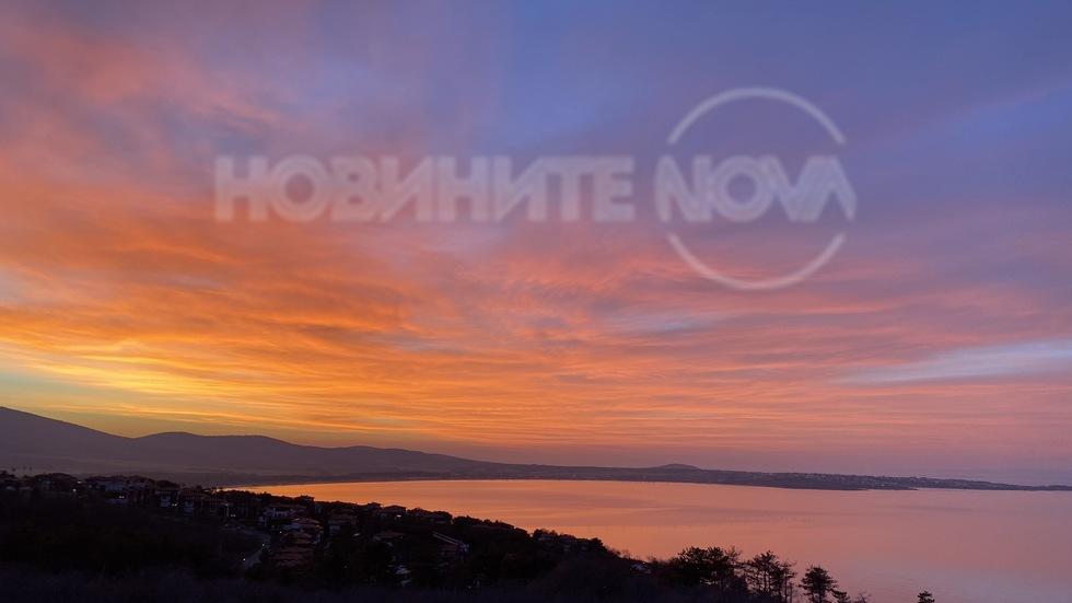 Днес залезът в Созопол