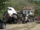 Цистерна с пропан-бутан се преобърна в село до Благоевград