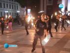 Огнено шоу пред Народния театър