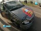 В Москва чисто гол и пиян шофьор помете 17 коли