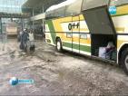 Автобуси не тръгнаха по маршрутите си, влаковете се движат със закъснение