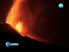 Вулканът Етна избълва лава на метри в небето
