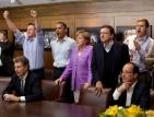 Обама, Меркел и Камерън гледаха финала на Шампионска лига