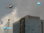 Пожар опустоши небостъргач в Истанбул